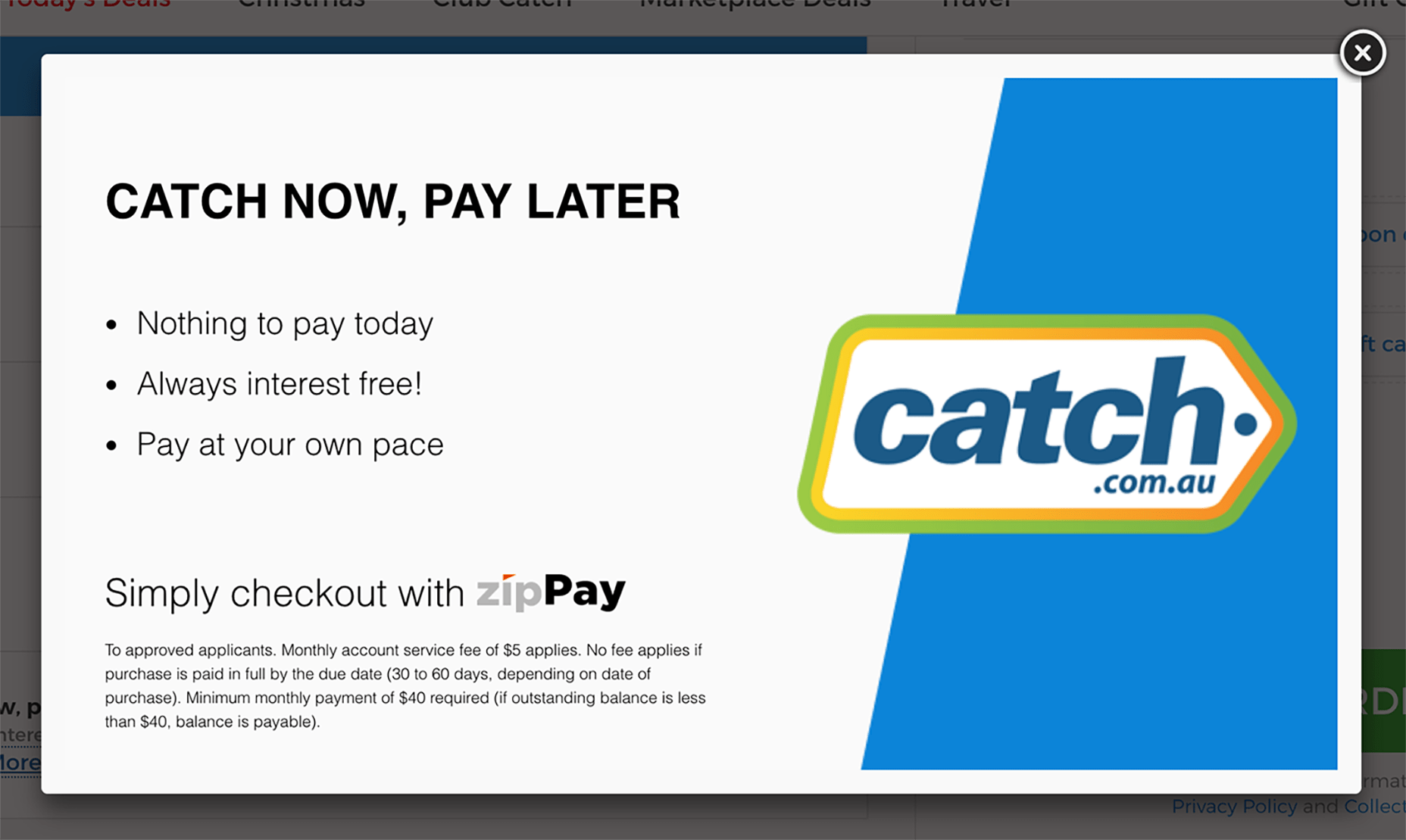 Catch Now Pay Later