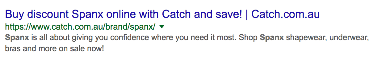 Catch Search Results