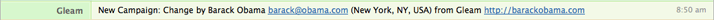 New Gleam Campaign HipChat Notifiction