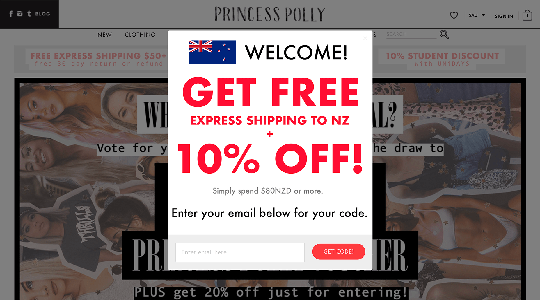 NZ Specific OPt-in