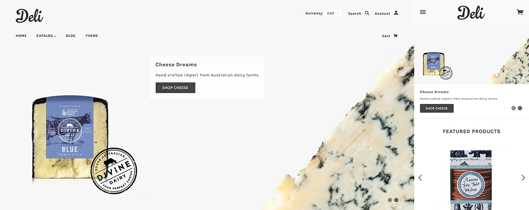Shopify Mobile Responsive Template