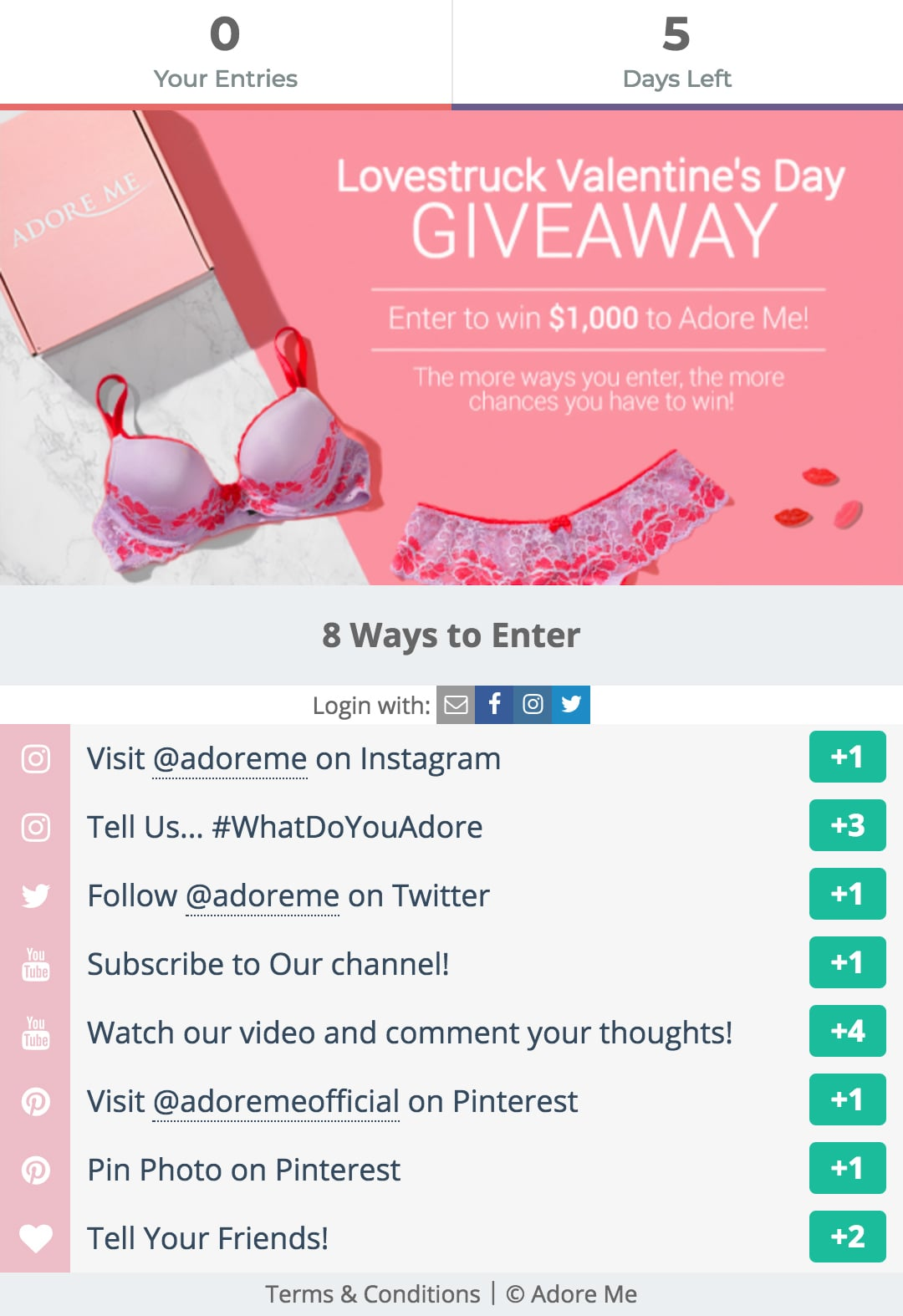 Adore Me Gleam Giveaway