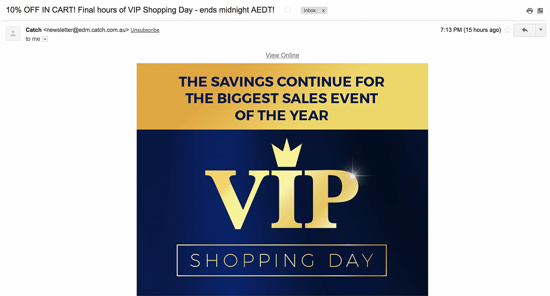 Daily Event Email