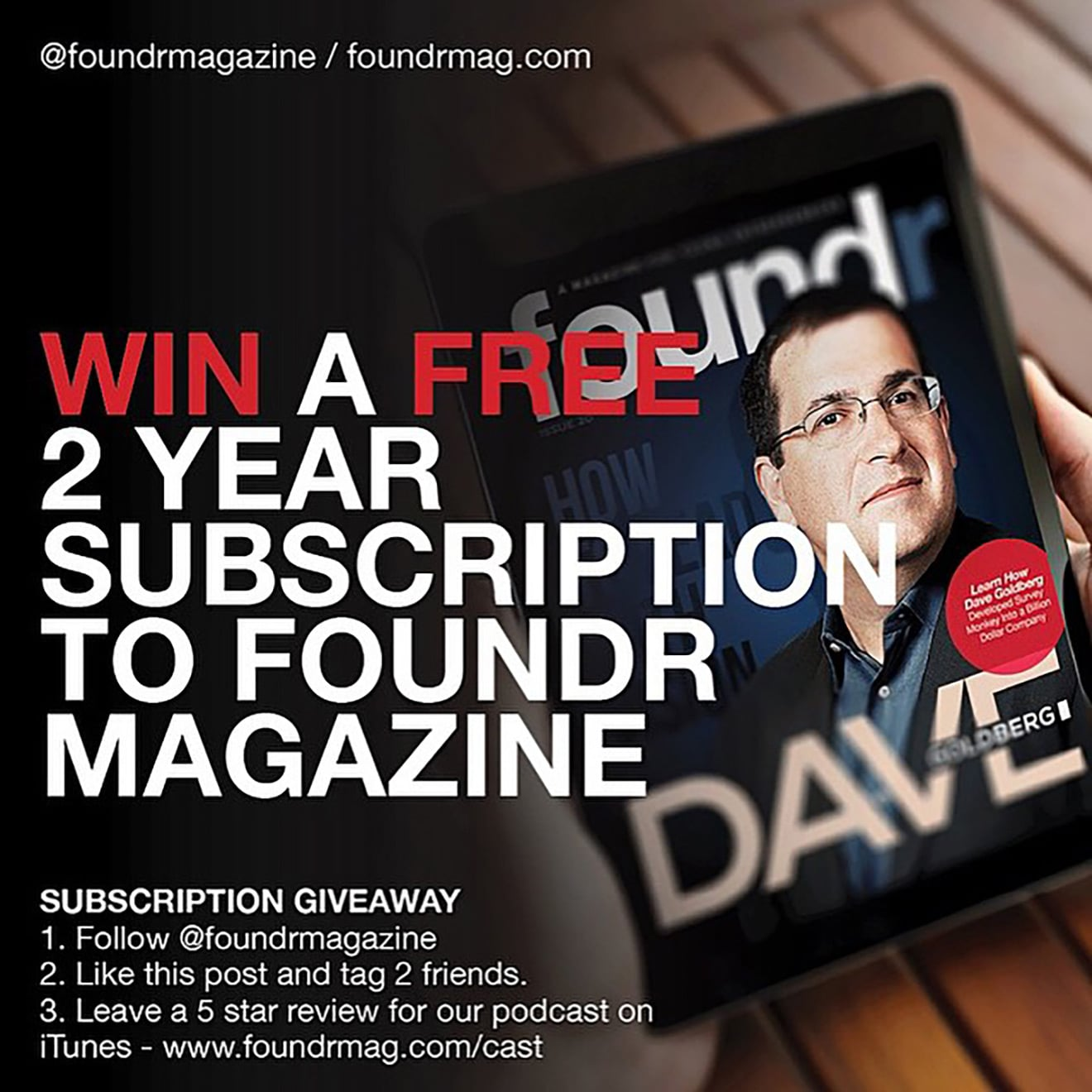 Foundr Magazine Giveaway
