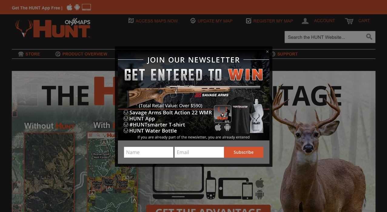 SIgn Up to Win Opt-in Form