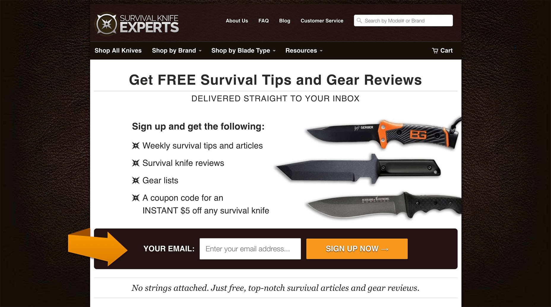 Survival Knife Experts Opt-in Form