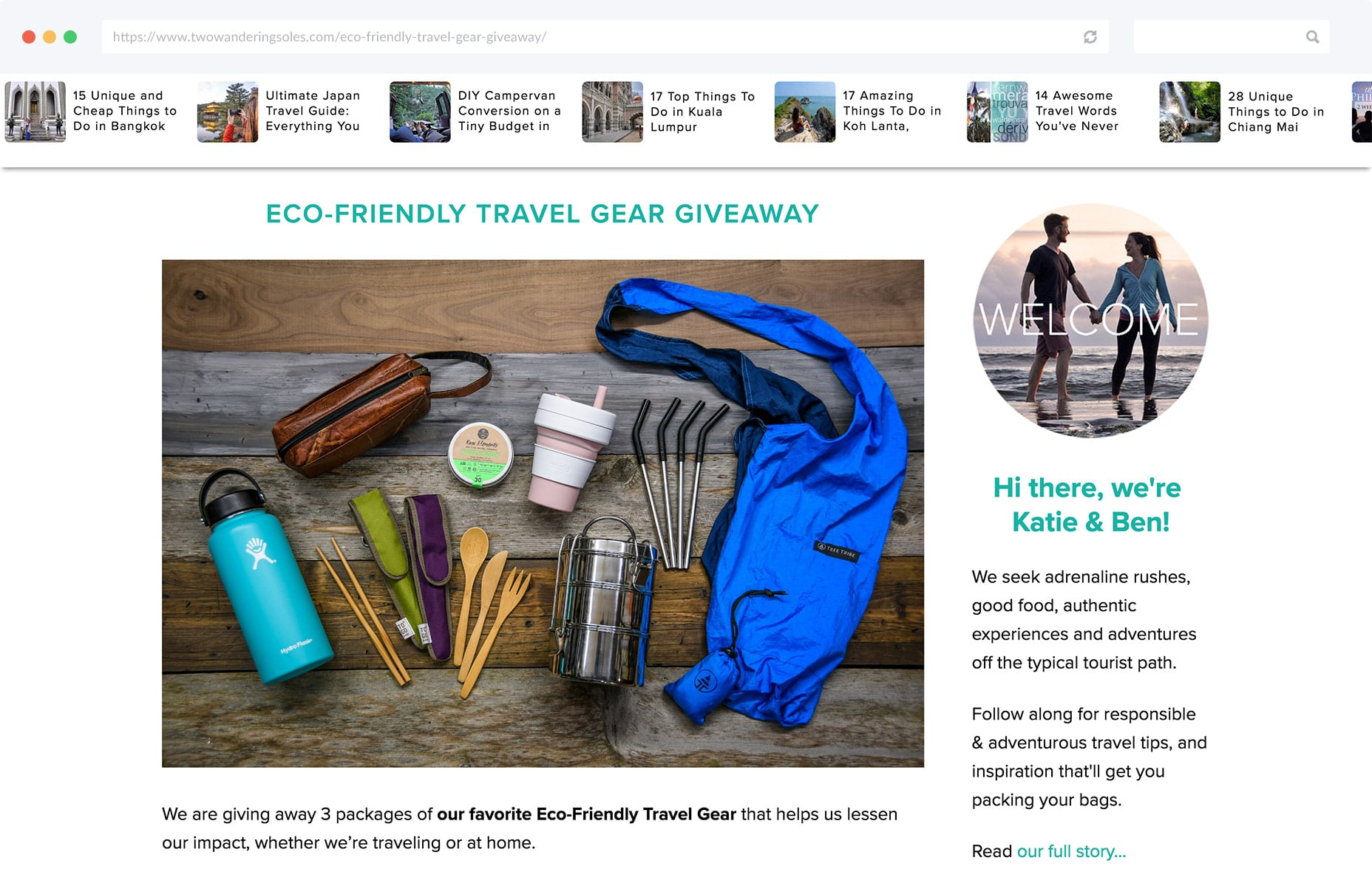 Bloggers can give away relevant products