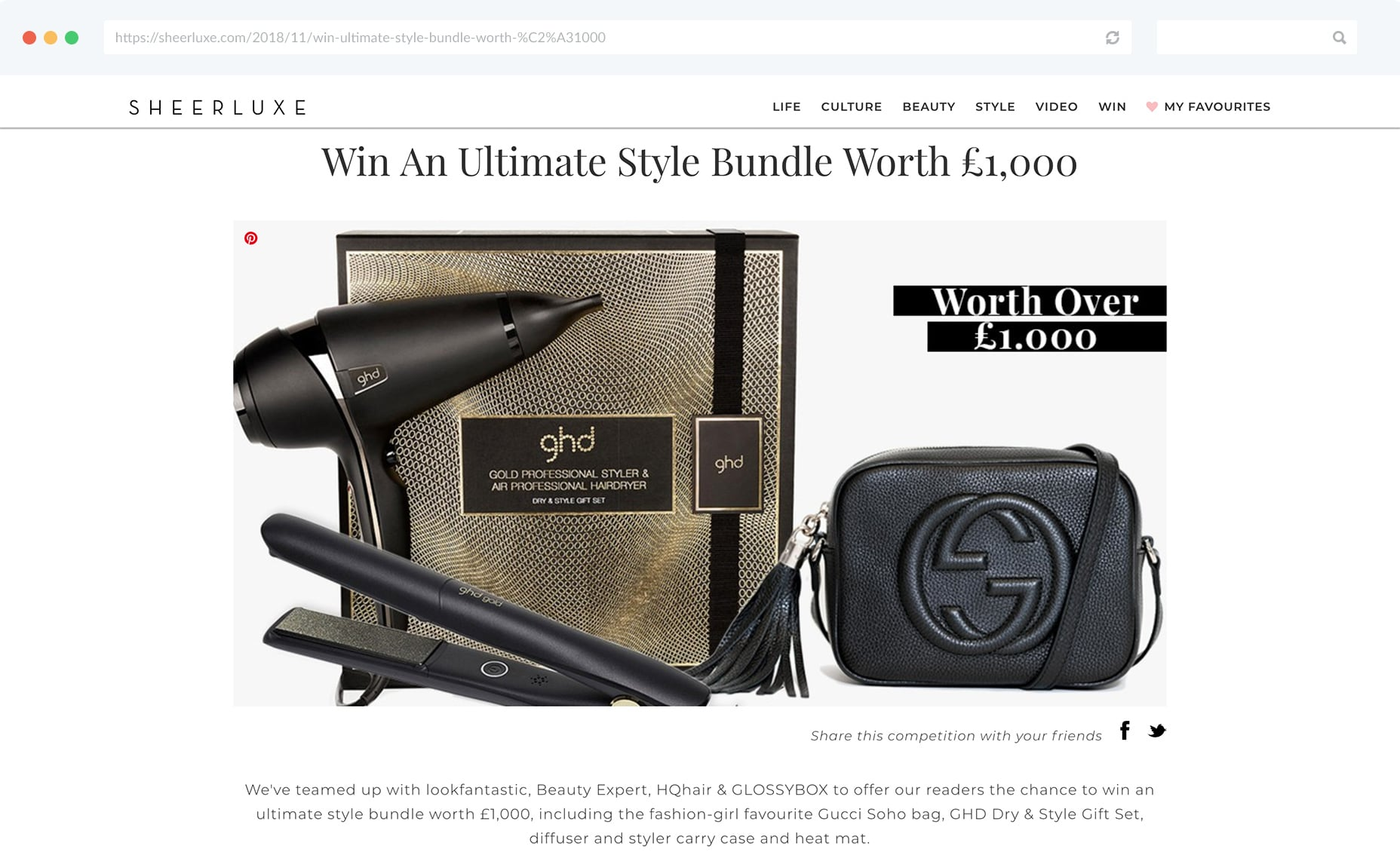 GHD gives away style bundle