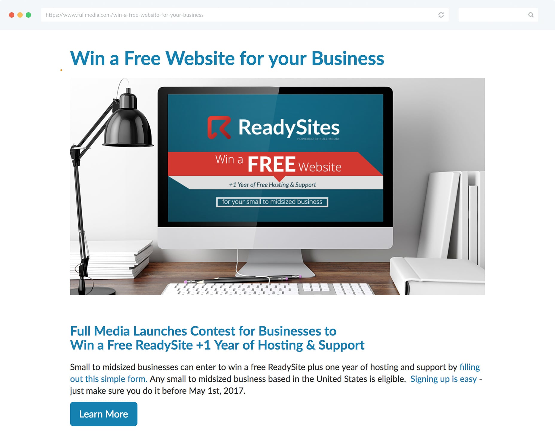 A free service from your business is a great prize