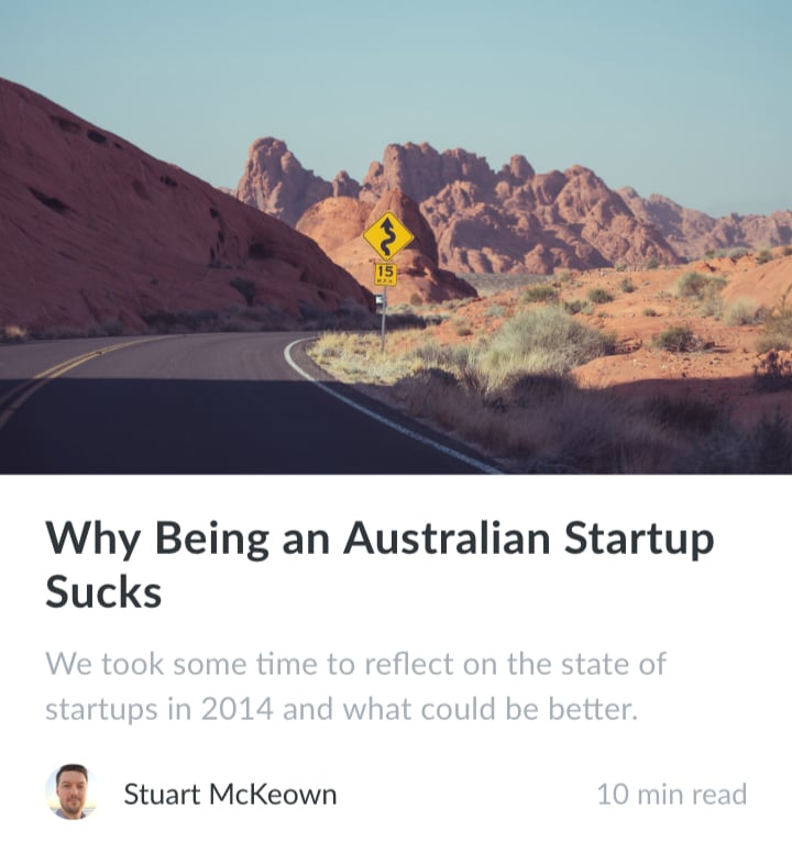 Gleam's blog post on the downsides of being an Australian startup