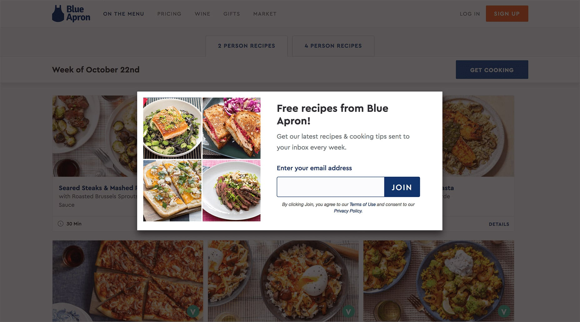 Blue Apron Opt-in