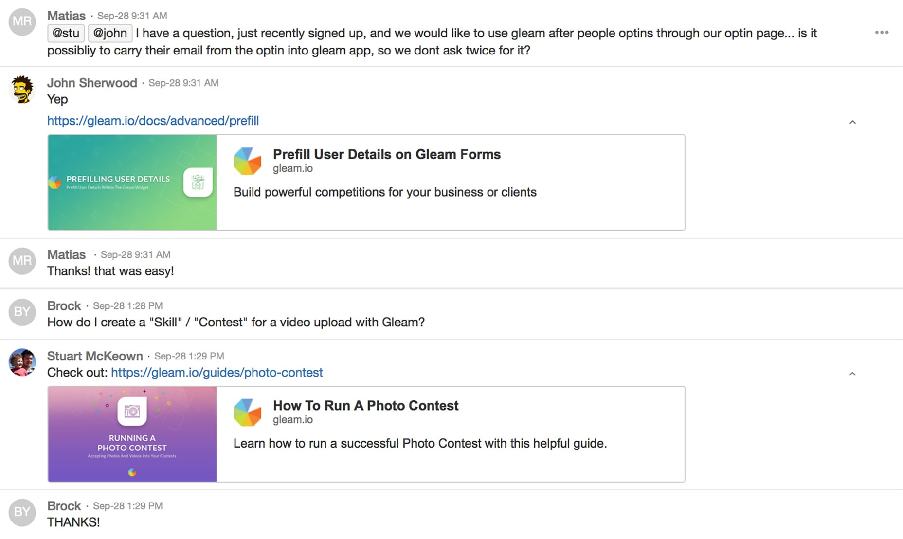 Gleam Support Public HipChat Room