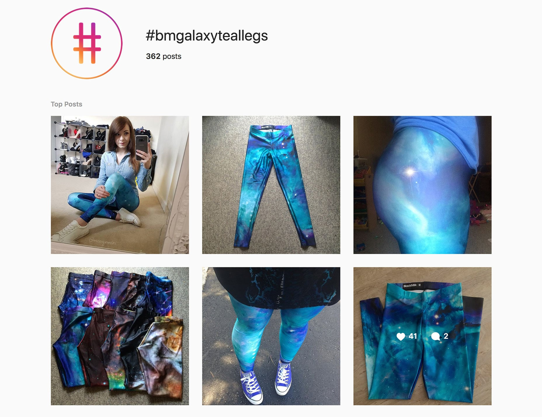Create product specific hashtags