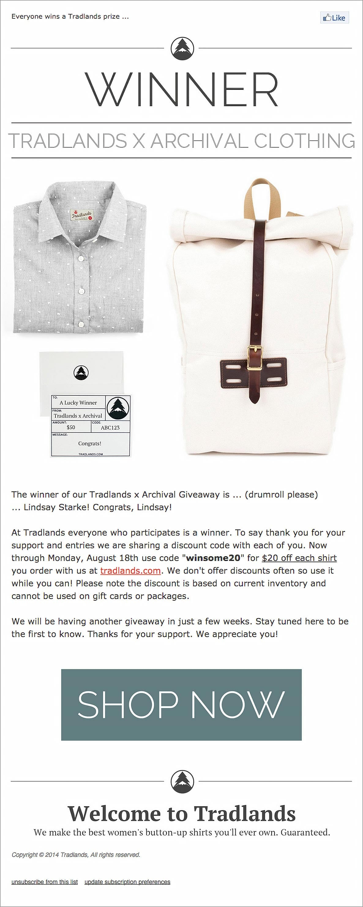 Contest Consolation Email